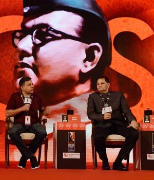 Chandra Bose, Anuj Dhar and Prof DN Bose at India Today Conclave East 2017