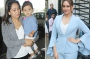 If Mira Rajput and daughter Misha made their way to Amritsar, actor Sonakshi Sinha looked chic during a photo op.