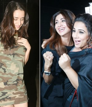 If Shilpa Shetty came to cheer for Vidya Balan at the screening of Tumhari Sulu, Shraddha Kapoor was spotted on a dinner date with friends.