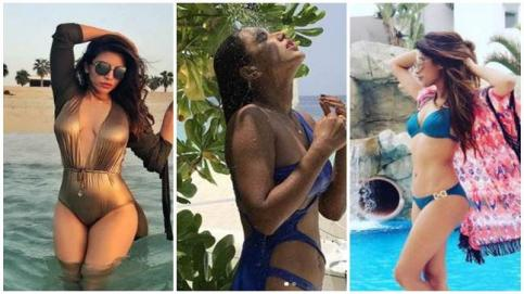 Nia Sharma, Rubina Dilaik, Sara Khan, Lopamudra Raut were among the TV actresses who raised the temperatures by taking a dip into the pool in their beach wear. While most of them headed to beach on a holiday, some others sneaked out some time from their h
