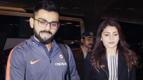 A day after hosting B-Town and cricketers at their Mumbai reception, newlyweds Virat Kohli and Anushka Sharma left for South Africa.