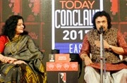 The renowned percussionist, Bickram Ghosh, was joined by violinist Sunita Bhuyan and Odissi danseuse Sanchita Bhattacharya in the first session of India Today Conclave East 2017, and they proved music is divine.
