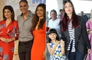 If Akshay Kumar was spotted with Twinkle Khanna and Radhika Apte at a song launch of Padman, Aishwarya Rai Bachchan was seen with daughter Aaradhya at the airport.