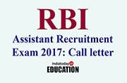 RBI Assistant Recruitment Prelims 2017: Call letter released at rbi.org.in