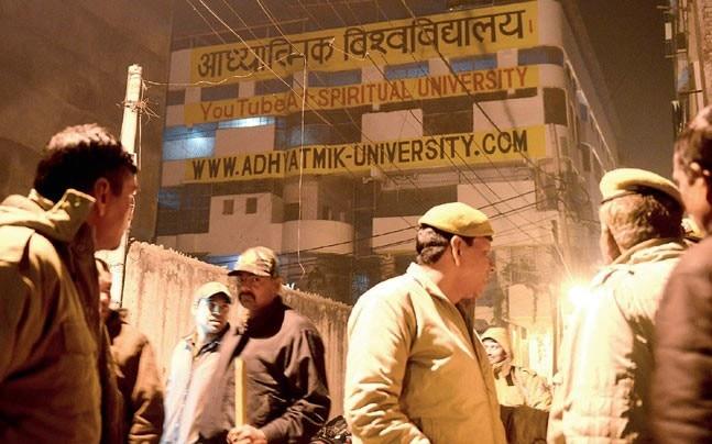The Adhyatmik Vishwa Vidyalaya, from where 40 girls were rescued (Photo: Mail Today)