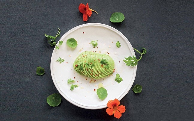 An avocado and herbs preparation by Copper and Cloves. Photo: Nilotpal Baruah