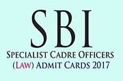 SBI Specialist Cadre Officers (Law) Admit Cards 2017: To be released by next week at sbi.co.in