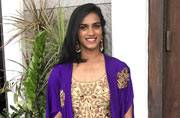 PV Sindhu looks like a royal princess in this gold-purple outfit