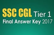 SSC CGL Tier 1 Final Answer Key 2017 released at ssc.nic.in: Check here
