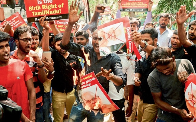 Cauvery water protests in Chennai