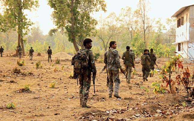 Security forces on patrol in Bastar (Photo: Bhupesh Kesharwani)