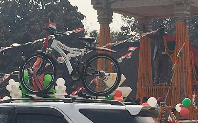 In pics: Akhilesh-Rahul's show of strength after PM Modi's roadshow in Varanasi