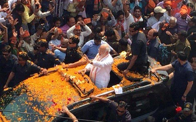 In pics: PM Modi flexes muscle in Varanasi as UP election enters last lap