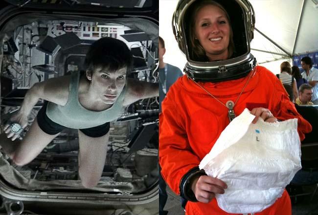 woman astronaut in diaper - 650×439