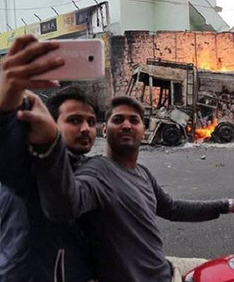 Disaster selfies