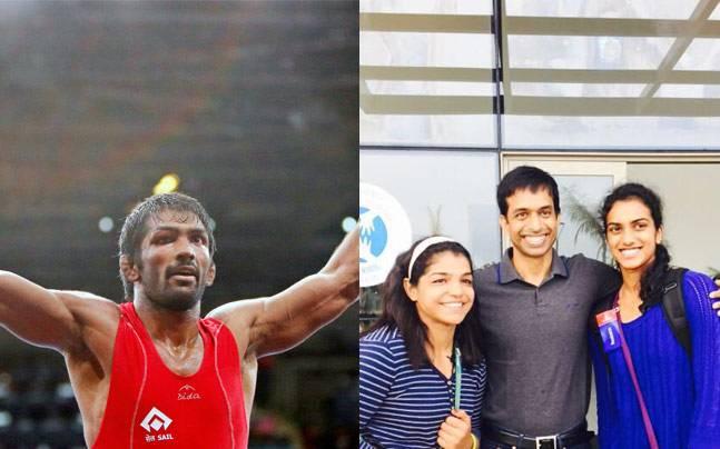 Yogeshwar Dutt, Sakshi Malik and PV Sindhu