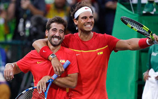 Marc Lopez and Rafael Nadal