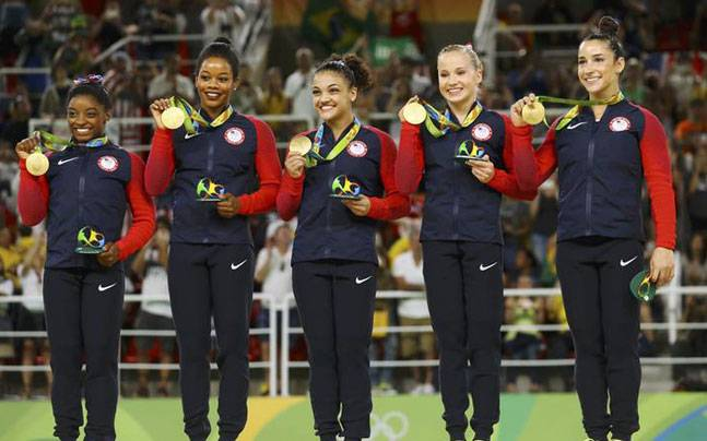 Team USA with their Gold medals