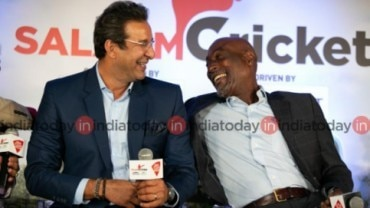 Wasim Akram and Vivian Richards at Salaam Cricket 2019