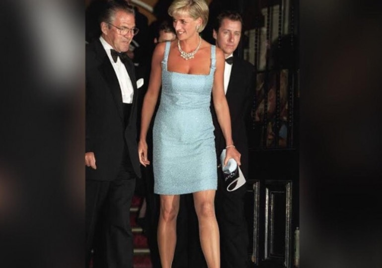 She grabbed eyeballs when she wore a figure-hugging Jacques Azagury dress that went significantly above the knee.