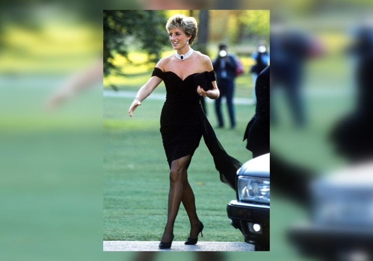 Princess Diana in the iconic and infamous Revenge dress