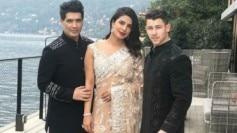 Priyanka Chopra and Nick Jonas in Manish Malhotra couture outfits