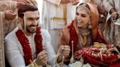 Ranveer Singh and Deepika Padukone at their traditional anand karaj