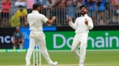 Virat Kohli celebrates with Mohammed Shami (AP Photo)