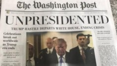 Fake edition Washington post donald trump resigns