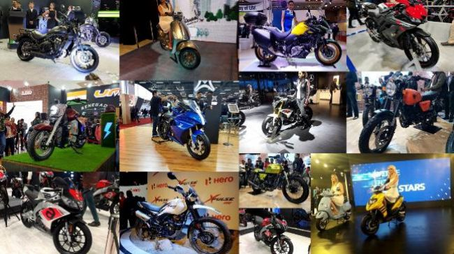 The Auto Expo saw a lot of motorcycle launches and unveilings. From electric cruisers to electric superbikes, we have it all. Take a look.