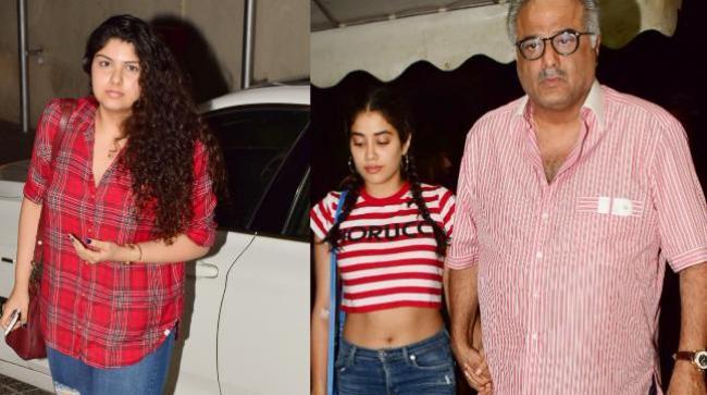 Anshula and Janhvi at film screening