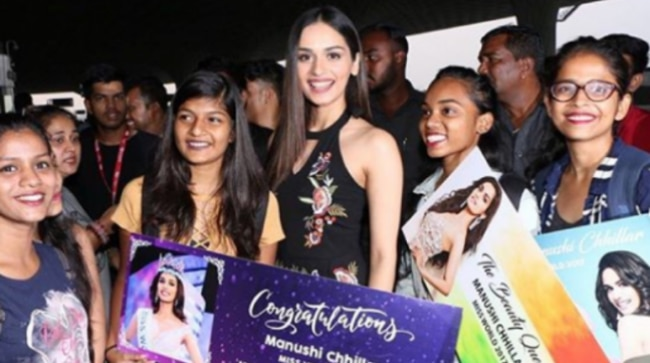 Manushi Chhillar took off to China for Miss World 2018