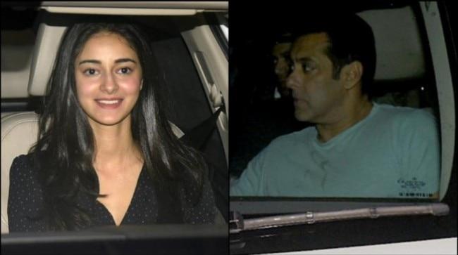 Ananya Panday (L) and Salman Khan