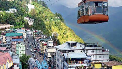 Soaring high: An aerial view of capital Gangtok