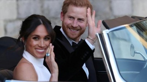 Meghan Markle wore a bespoke Stella McCartney outfit at her reception.
