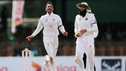 Keshav Maharaj bagged his career best 9/129 vs Sri Lanka (Reuters Photo)