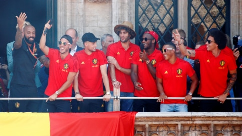 Belgium football team returned home after their best-ever finish at the World Cup in Russia. (Reuters Photo)