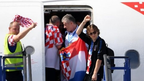 Croatia players were thrown a grand party by their fans on their arrival in Zagreb