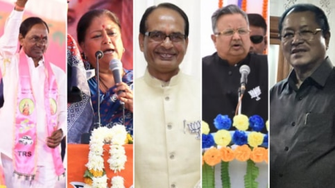 Assembly election results out today for 5 states: MP, Rajasthan, Chhattisgarh, Telangana and Mizoram