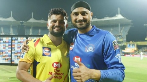 The IPL 2019 opener turned out to be really special for Harbhajan Singh and Suresh Raina both (BCCI Photo)