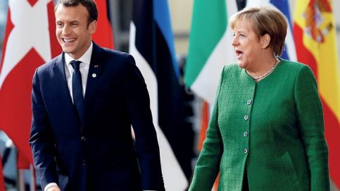 POWER CENTRES Macron and Merkel at an EU heads of state informal meeting in Brussels. Photo: ReutersFrancois Lenoir