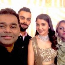 AR Rahman, Virat Kohli, Anushka Sharma, Saira Rahman