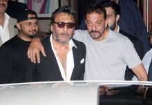 (L-R) Honey Singh, Jackie Shroff and Sanjay Dutt