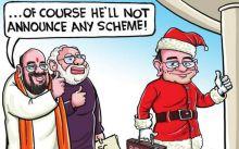 Satish Acharya,Cartoons,Cartoons on politics