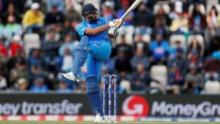 The NewsYet - India vs Australia Live Score, World Cup 2019: Rohit Sharma in action against Australia (Reuters Photo)