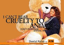 Sheetal Malhar in PETA advertisement