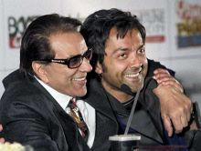 Dharmendra and Bobby Deol