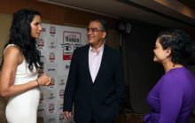 Padma Lakshmi, Aroon Purie, Editor-in-Chief, The India Today Group, Kalli Purie