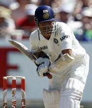 Sachin Tendulkar on way to his 51st Test century