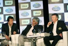 Imran Khan, Arjuna Ranatunga and Steve Waugh